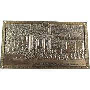 Processional Metal Plaque Japan