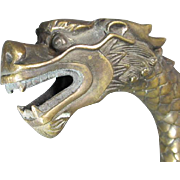 Chinese Bronze Dragon Stick/Cane
