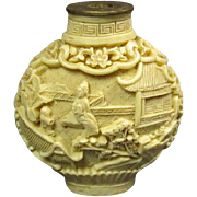 Carved Composite Snuff Bottle