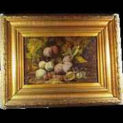Antique Oil Canvas Still Life