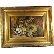 Antique Oil Canvas Still Life