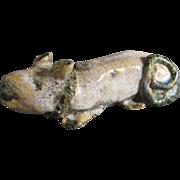 Antique Chinese Ceramic Rat  Figure