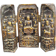 Three Buddha Traveling Shrine