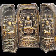 Three Buddha Traveling Shrine
