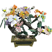 "Hardstone ""Jade "" Flowering Tree"