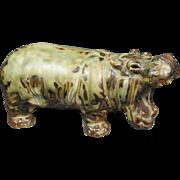Royal Copenhagen Hippopotamus Knud Kyhn Figurine