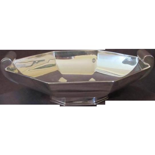 Art Deco Style Silver Bowl
