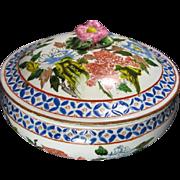 Floral Japanese Porcelain Jar