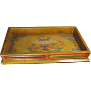 Old  Chinese Polychrome Wood Tray