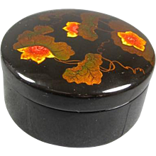 Japanese Floral Lacquer Box