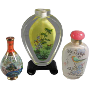 Trio Chinese Snuff Bottles