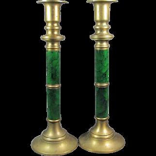 Pr Brass Candlesticks