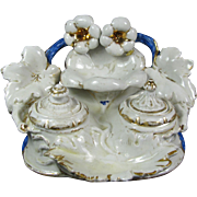 Old Paris /Type Porcelain Double Ink Well