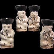 Chinese Cizhou Candlesticks