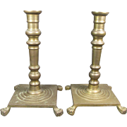 Old Brass Candlesticks