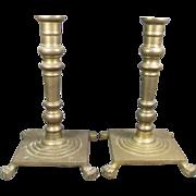 Old Brass Candlesticks