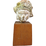 Chinese Pottery Head on Stand