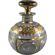 Antique Gilt and Enameled Crystal Decanter