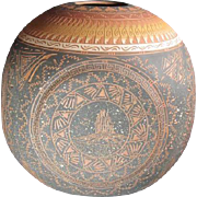 Navajo Ceramic Pot Artist Signed - Red Tag Sale Item