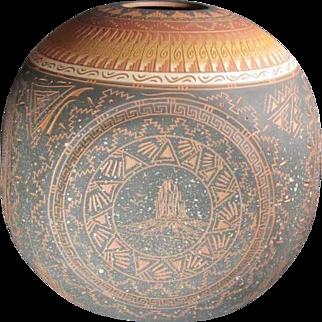 Navajo Ceramic Pot Artist Signed