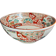Large Antique Japanese Imari Bowl Signed