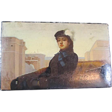 Russian Lacquered Box Sleigh Image