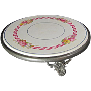 Tripod Porcelain Rose Hot/Plate Trivet