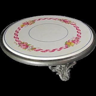 Tripod Porcelain Rose Hot/Plate Trivet