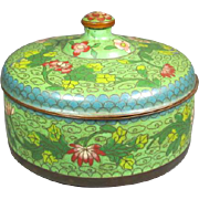 Old Chinese Cloisonné Covered Box