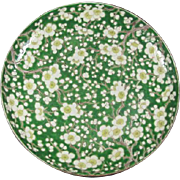 Old Japanese Enameled Floral Plate