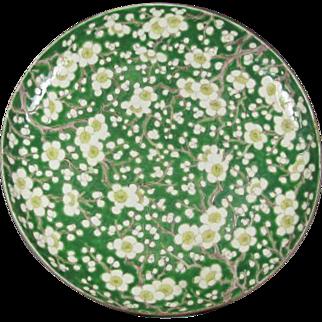 Old Japanese Enameled Floral Plate