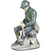 Royal Copenhagen Figurine Man with  Dog # 1087