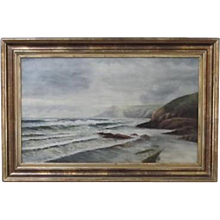 English Seascape oil on canvas