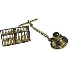 14K Gold Abacus Tie Tac