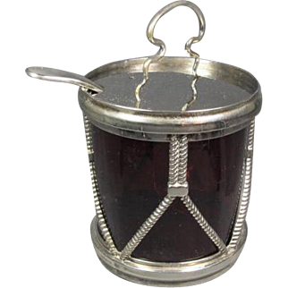 Drum  Style Jam Jar with Glass Liner