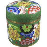 Old Chinese Enameled Cloisonné Covered Jar - Red Tag Sale Item