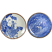Pair of Antique Meiji period Igezara ware Plates