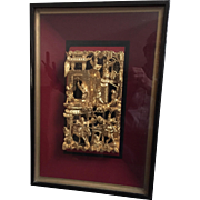 Framed Chinese Gilt Panel