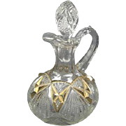 Old Cut Glass Gilt Cruet