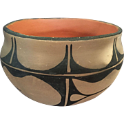 Old Santo Domingo Pueblo Bowl by Angelita Cortiz