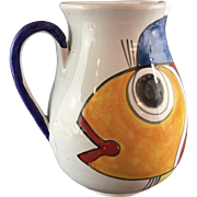 Ceramic Art Fish Pitcher