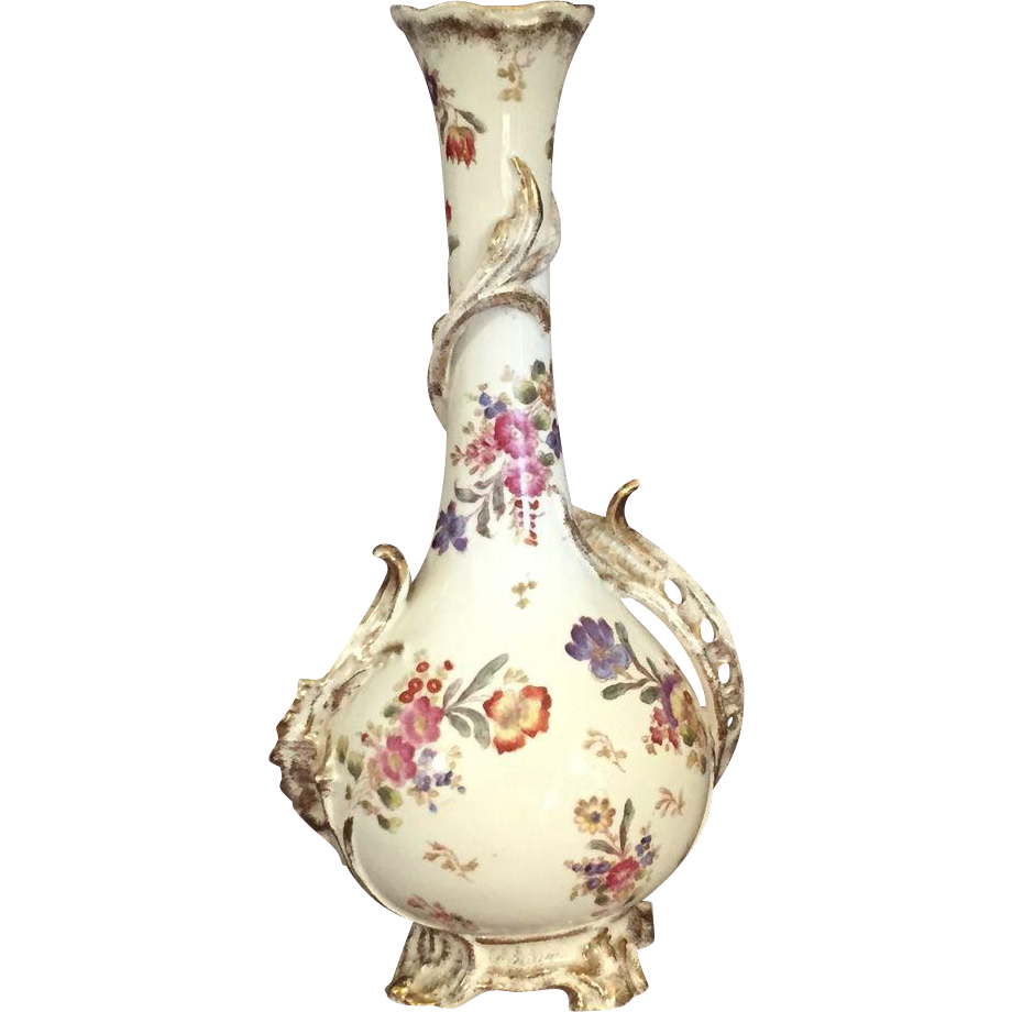 old floral royal bonn vase from thesteffencollection on. Black Bedroom Furniture Sets. Home Design Ideas
