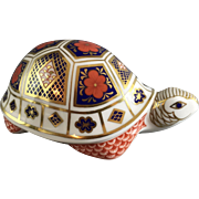 Royal Crown Derby Imari/Style Turtle Paperweight