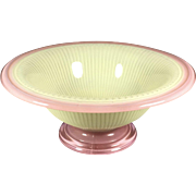 Stunning Pink/Green Art Glass Bowl