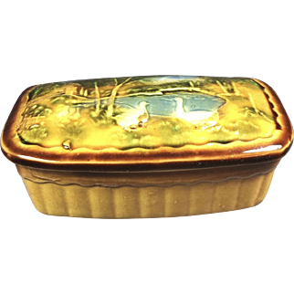 Covered Pottery Butter Box