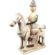 Antique  Chinese Equestrian Figure