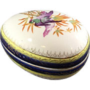 Egg Shaped Porcelain Box