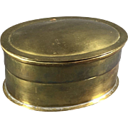 Oval 19th Century Brass Box
