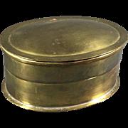 Oval 19th Century Brass Box