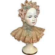 Porcelain Bust of Girl by California Dresden Avis